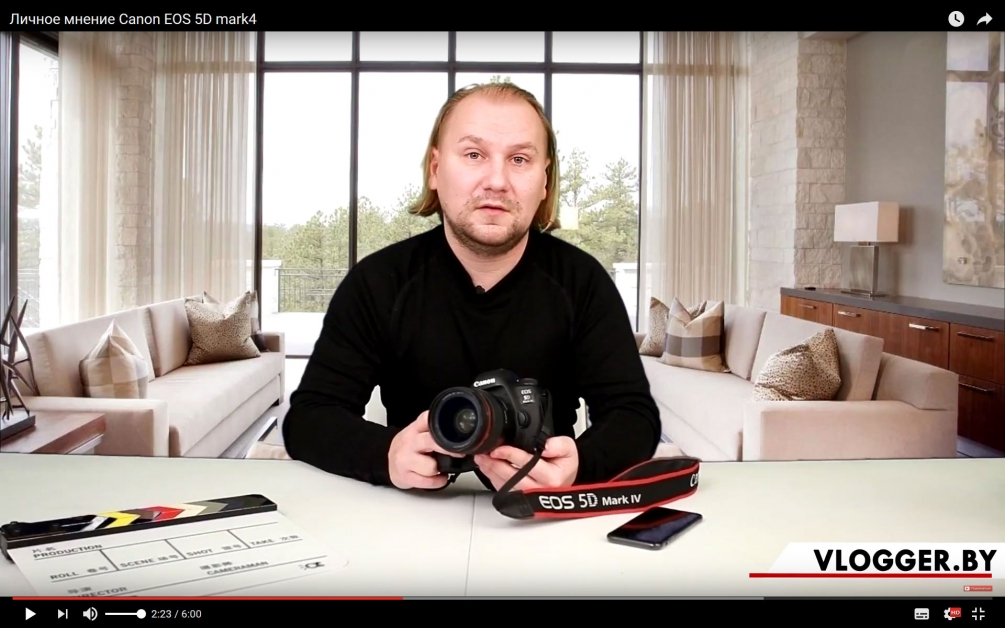 Canon EOS 5D mark4 личное мнение о камере. (Видео)